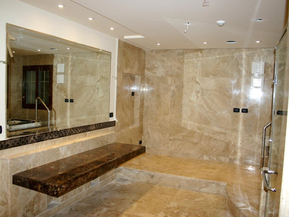 Ukstone marble travertine limestone mosaics tile for Main floor bathroom ideas